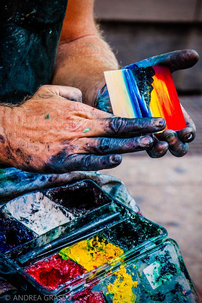 Le mani di un marinaio